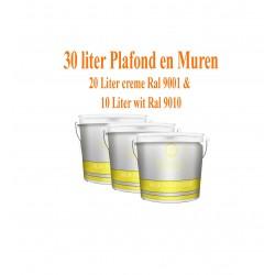 Classic Muur- en Plafondverf  Ral 9001& Ral 9010