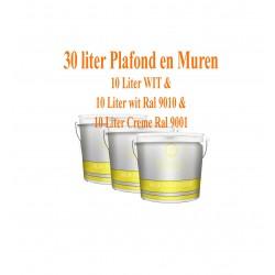 Classic Muur- en Plafondverf Wit + Ral 9010 + Ral 9001